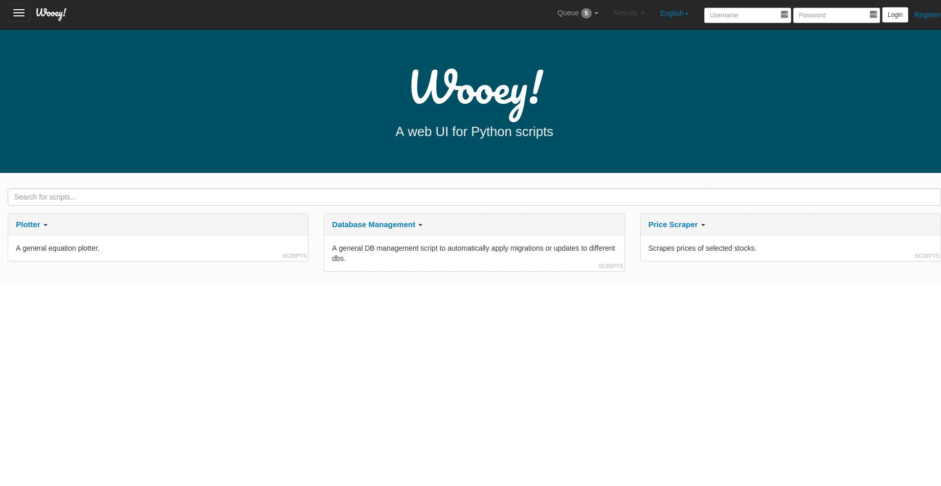 Wooey UI — Wooey 3 0 0 documentation